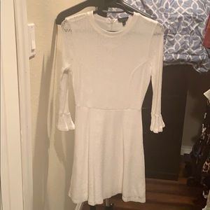 NWOT Topshop white lace dress with ruffle